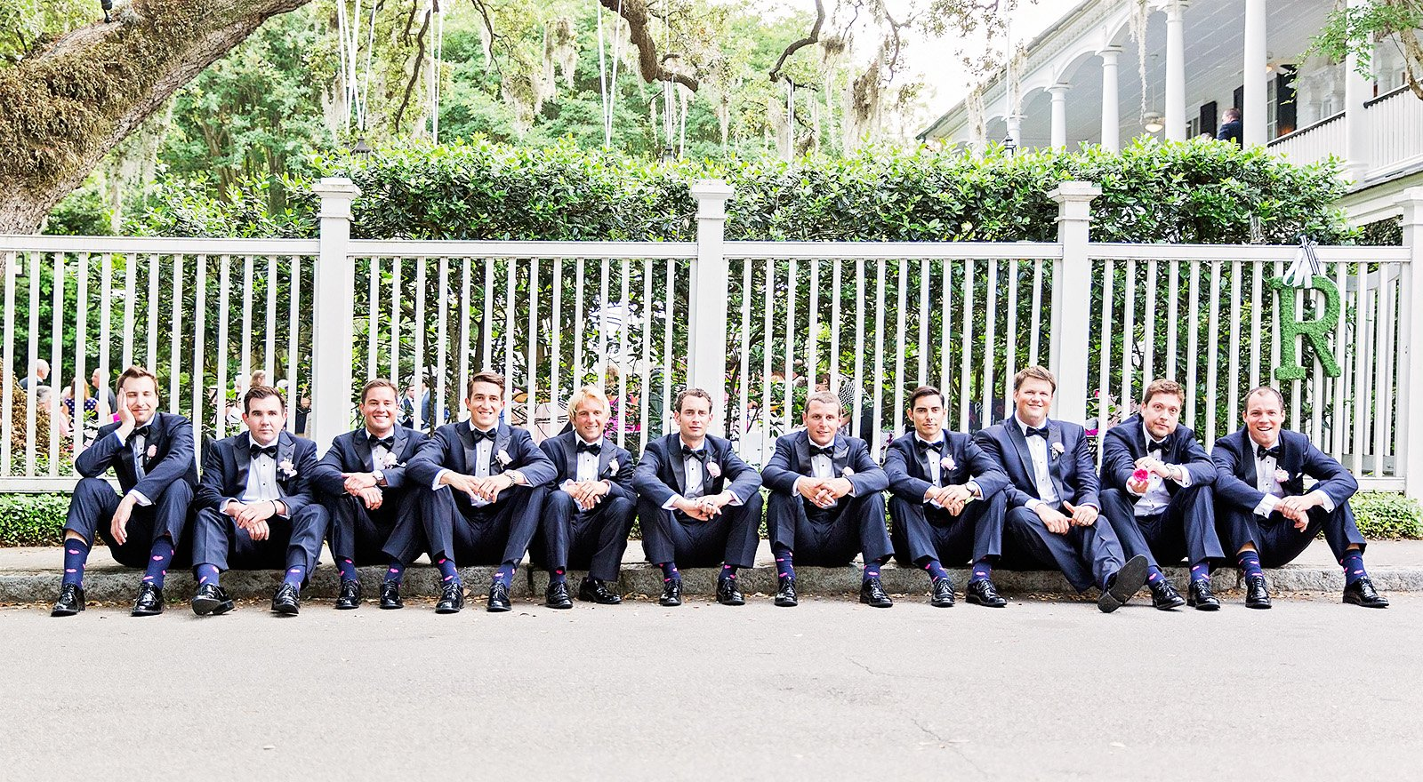 Groomsmen suits for wedding in Charleston