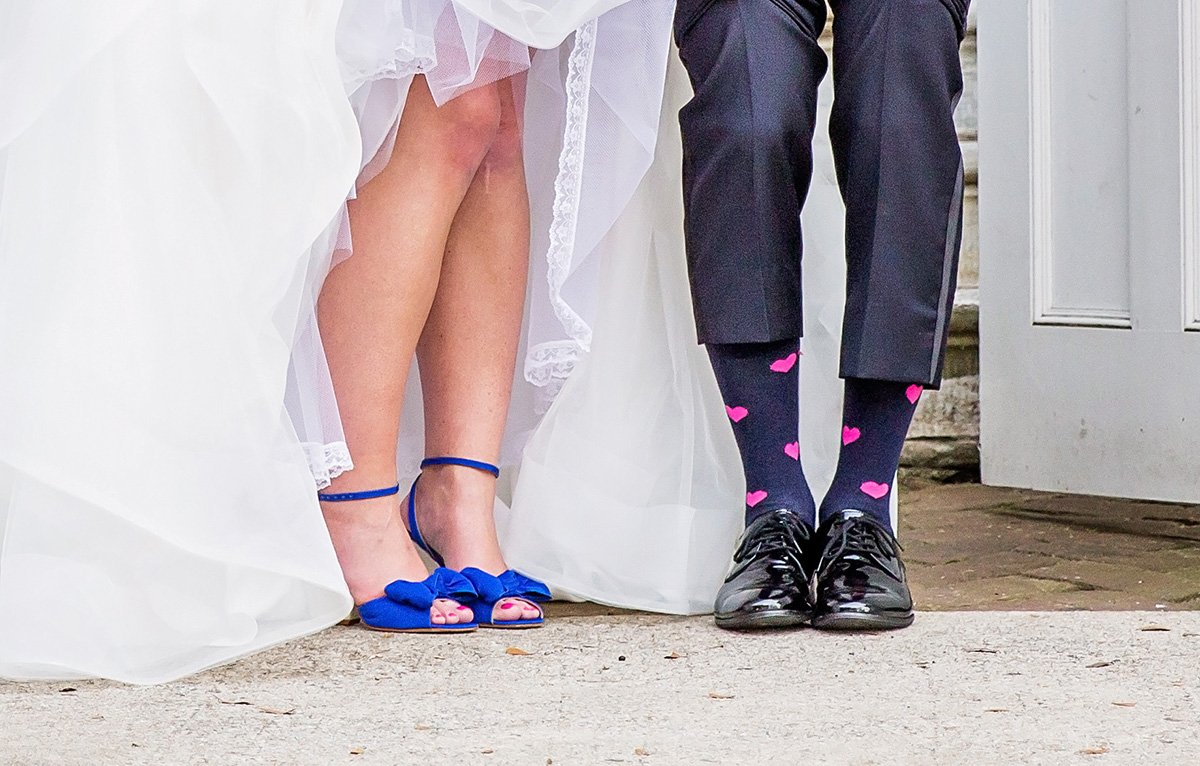 wedding shoes Charleston wedding photographer Leah Marie Photography + Stationery
