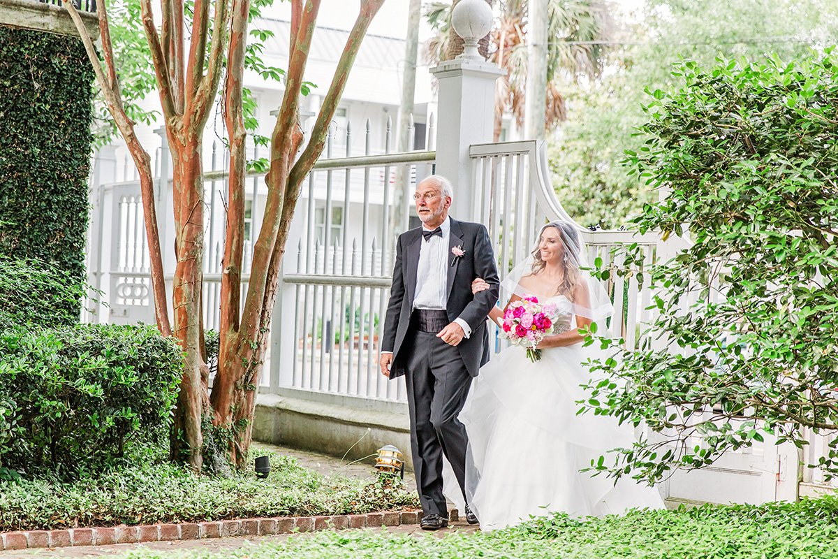 Father of the bride Charleston wedding photographer Leah Marie Photography + Stationery