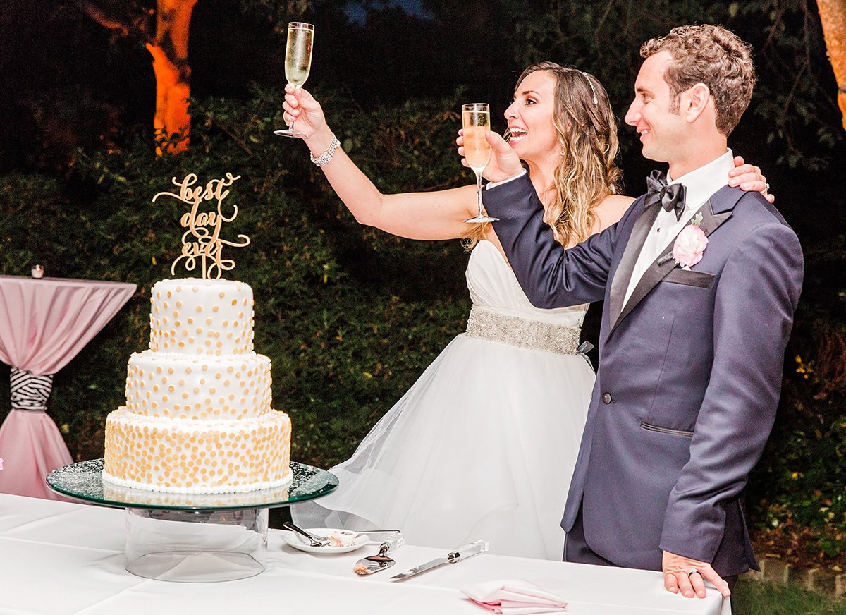 wedding toasts Charleston wedding photographer Leah Marie Photography + Stationery