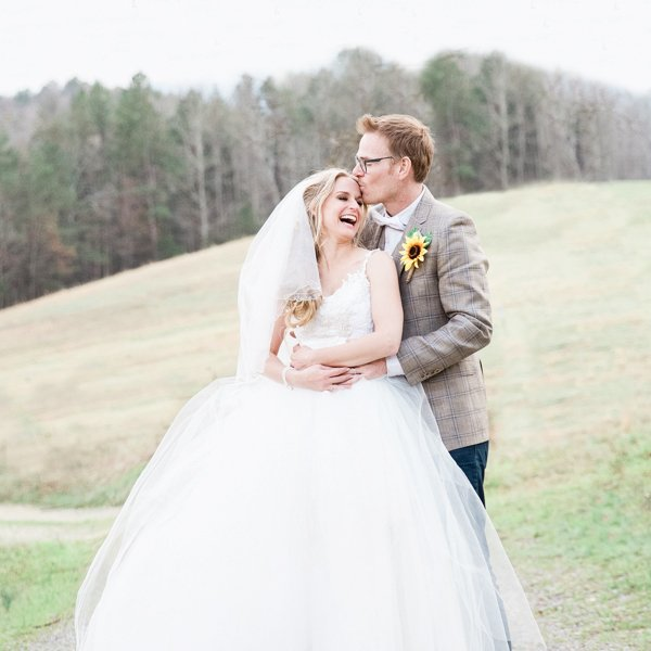 Georgia Farm wedding with sunflower actress Jenn Gotzon Chandler and Jim Chandler