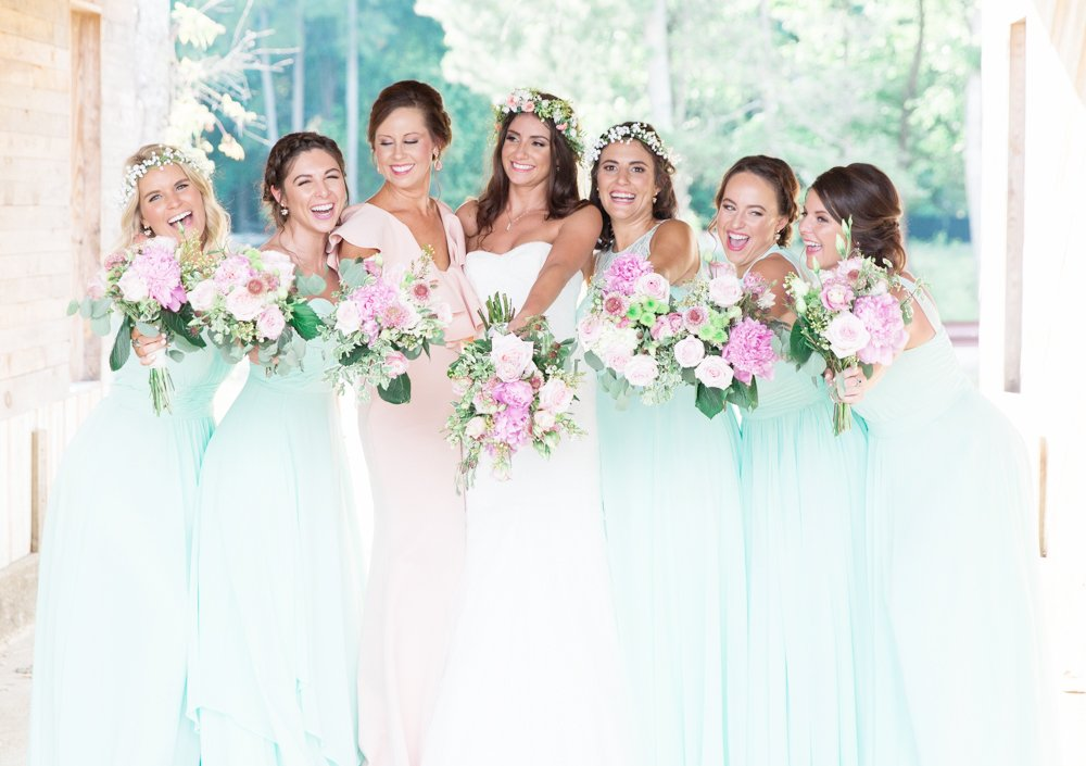 Seafoam Bridesmaids dresses in Raleigh, NC