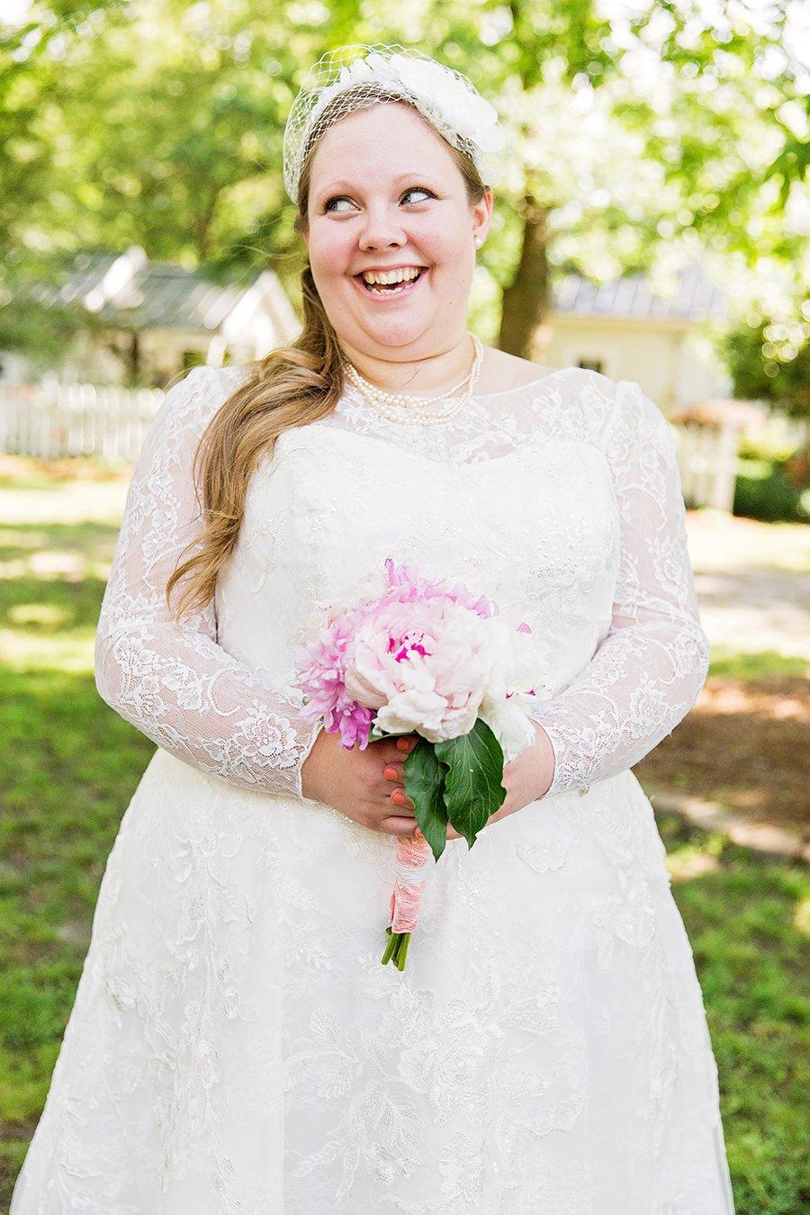Wedding dress at Longstraw Farms wedding
