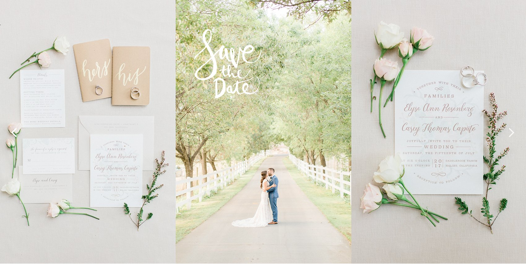 Wedding Save the Dates and Wedding Invitations by Leah Marie Stationery