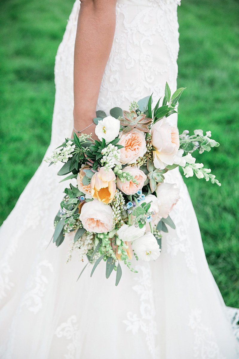 Wedding Bouquet by Wedding Photographer Leah Marie Photography + Stationery