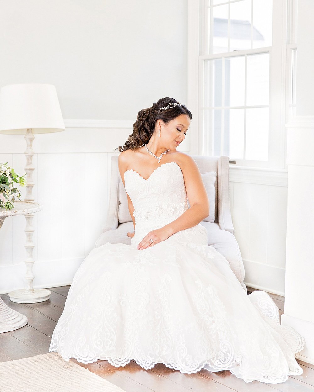 Wedding Dress by Wedding Photographer Leah Marie Photography + Stationery