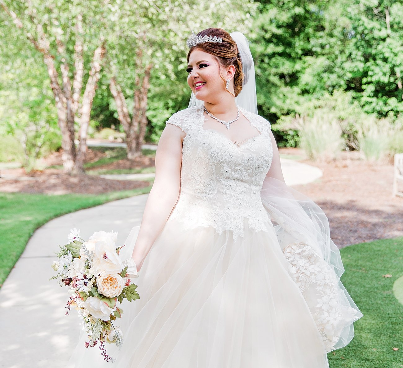 Beautiful Wedding Dress by Raleigh wedding Photographer Leah Marie Photographer + Stationery