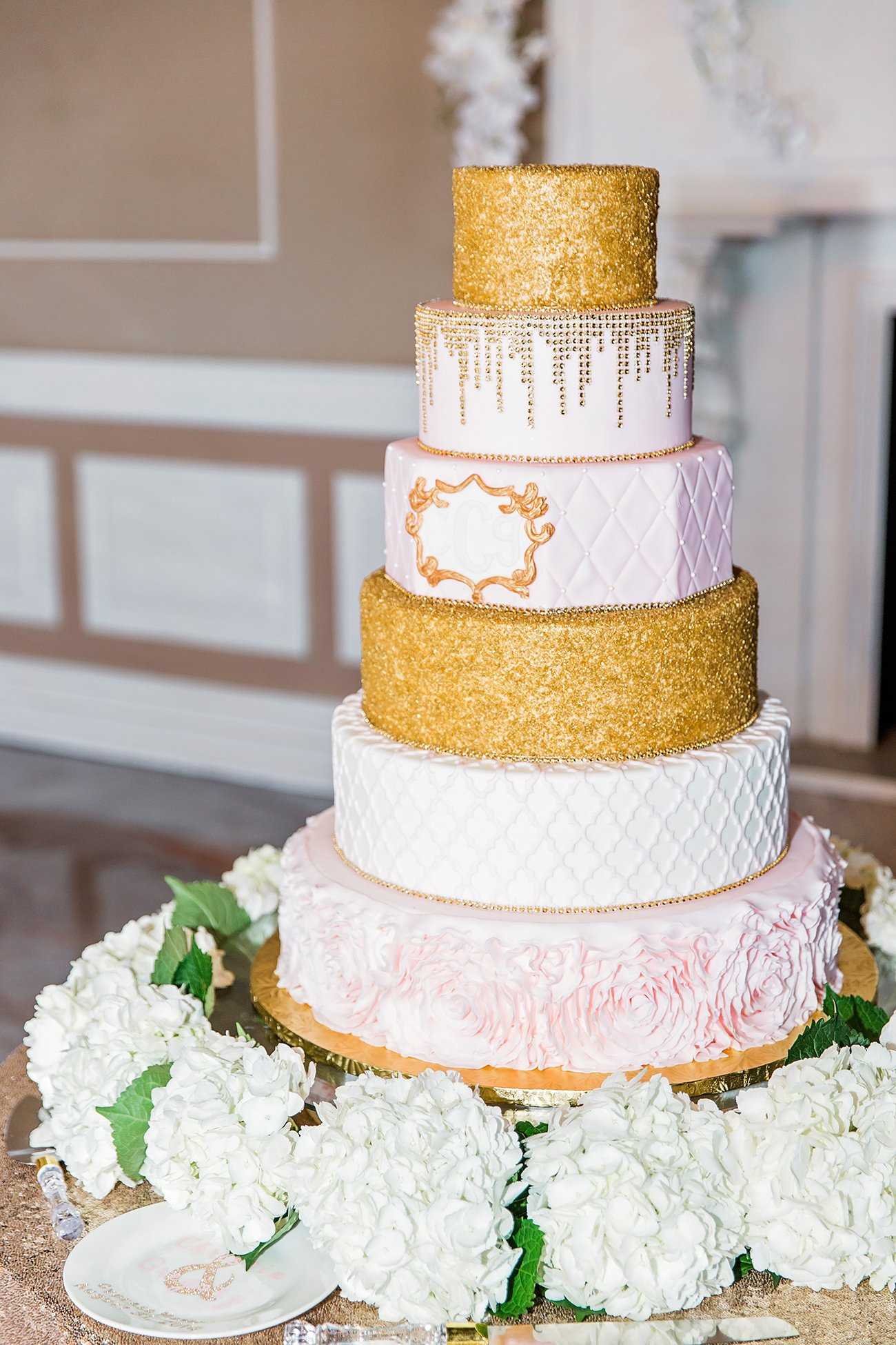 Wedding Cake by Leah Marie Photography + Stationery