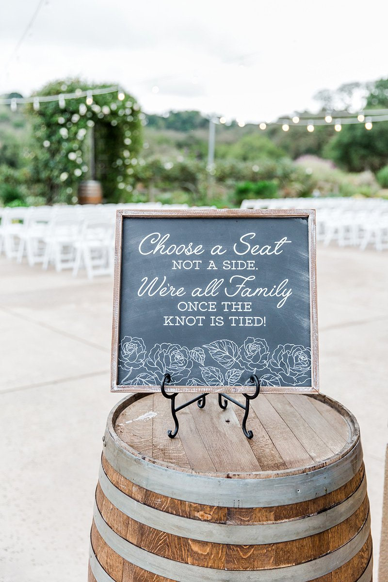 Rustic wedding sign San Jose wedding photographer Leah Marie Photography + Stationery