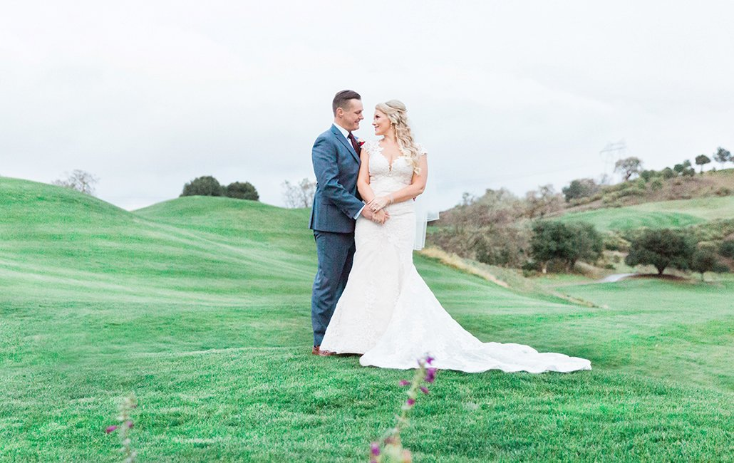 Golf course wedding in San Jose California wedding