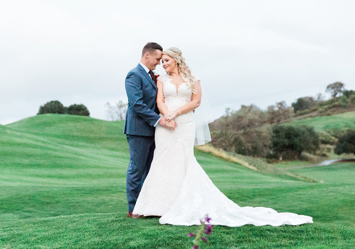 Golf course wedding in San Jose San Jose wedding photographer Leah Marie Photography + Stationery