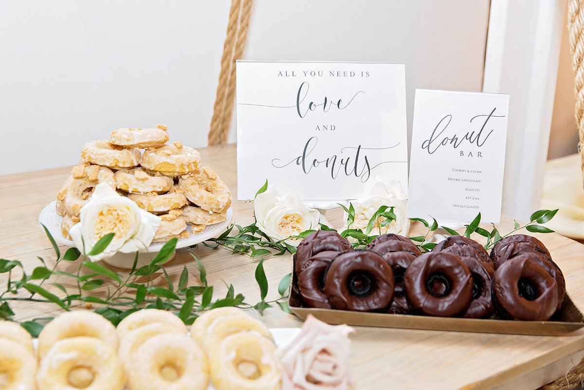 Donut bar donuts for weddings