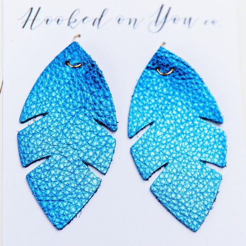 Leather earrings and jewelry shopping